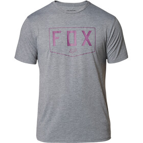 Fox Shield Camiseta Tech Manga Corta Hombre, heather graphite